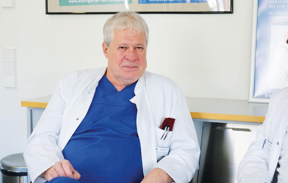 Prof. Hemmer ist mit der Zusammenarbeit mit der DGFG zufrieden