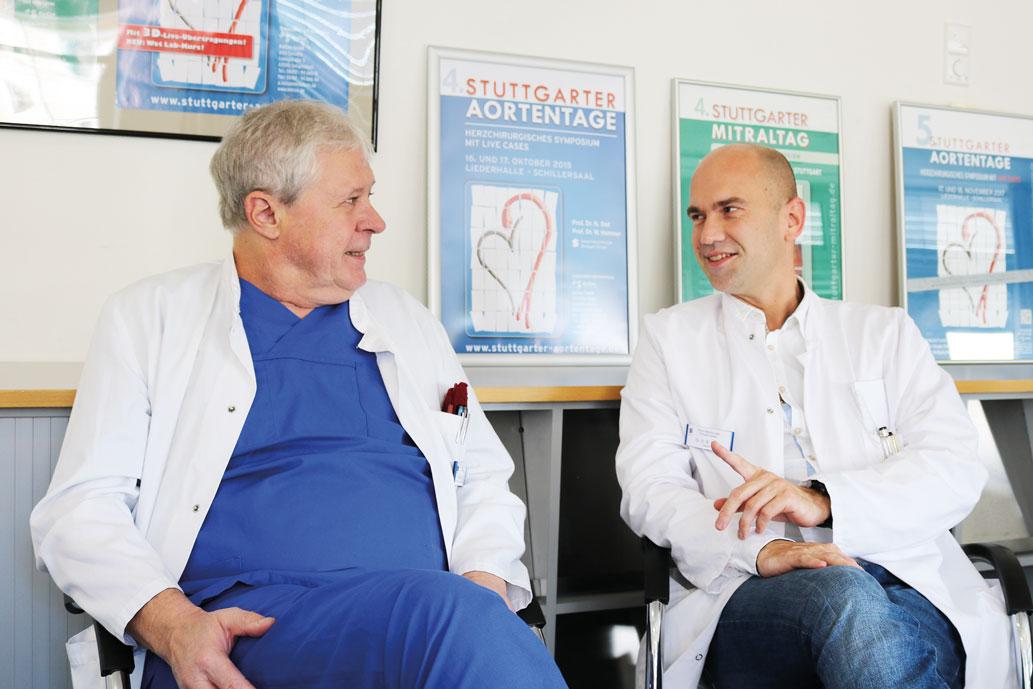 Prof. Hemmer (l.) und Dr. Merk (r.) zur Spende und Transplantation von Herzklappen