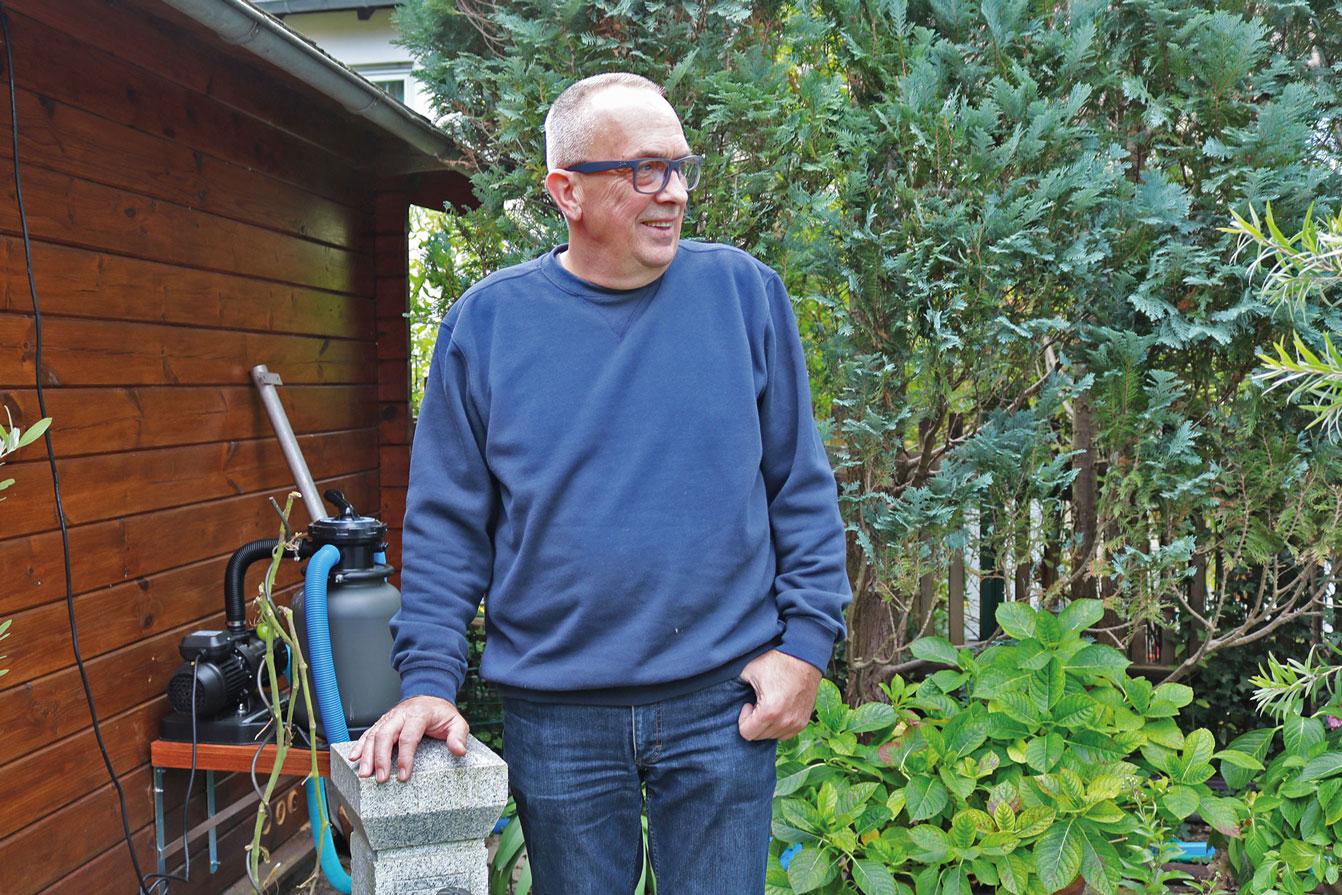 Andreas Walkhoff kann seinen Garten wieder voll wahrnehmen