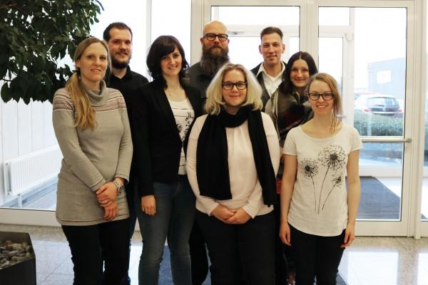 Region NRW: Martina Thiebes, Tim Bönig, Sabrina Schmidt, PD Dr. med. Stephan Sixt, Dr. biol. hom. Astrid Schulte, Daniel Lochmann, Martha Perczak und Anna Wiesner (v. l. n. r.)