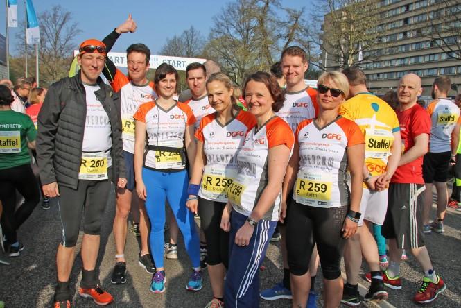 DGFG-Mitarbeiter laufen beim Hannover Marathon 2017 für die Gewebespende
